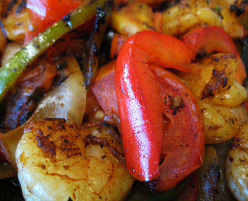 Shrimp Fajitas Dinner